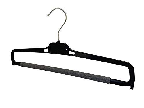 Kiroplast - Perchas para pantalones Stock 30/50/100 - Perchas de plástico antideslizantes para ahorrar espacio - 39 cm 30 Negro