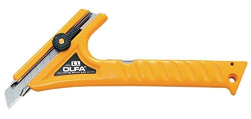 OLFA LL–Cuttermesser mit 18mm Klinge, Blockade Radzylinder, Trennscheibe speziell für Verwendung mit beiden Händen für Arbeiten von schwer