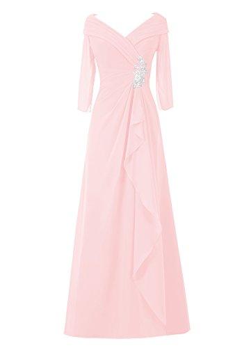 Dresstells Damen Abendkleider Bodenlang Homecoming Kleider Party Kleider Rosa