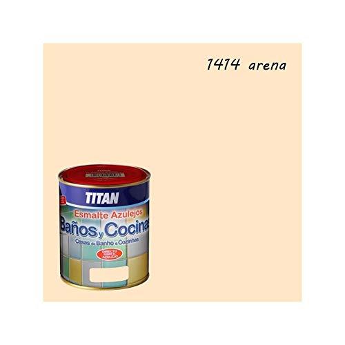 Titan M112278 - Esmalte azulejos baño-cocina arena 750 ml