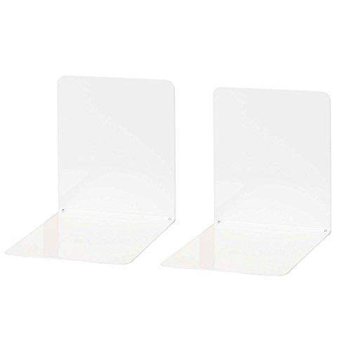 Wedo 1021100 - Sujetalibros de metal, ancho, 2 unidades, 14 x 12 x 14 cm, color blanco