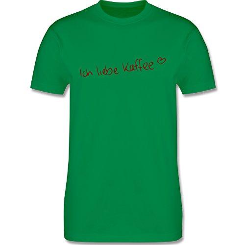 Küche - Ich liebe Kaffee - Herren Premium T-Shirt Grün