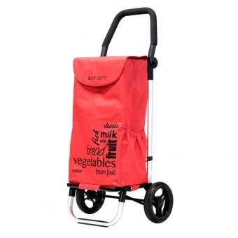 Carlett lett201Samt Einkaufstrolley, rot