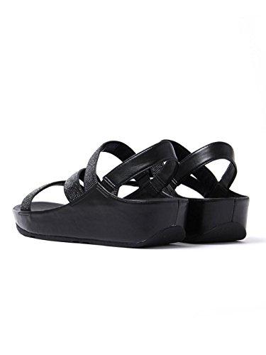 Fitflop Crystall Z-Strap Sandal, Black E24-001 Schwarz