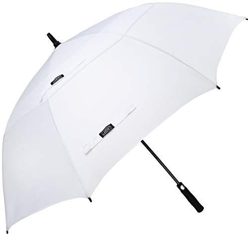 G4Free Golfschirm mit automatischer Öffnung, extragroß, Übergröße, doppelter Baldachin, belüftet, Winddicht, wasserdicht, Stockschirme, 05.White, 54 inch -