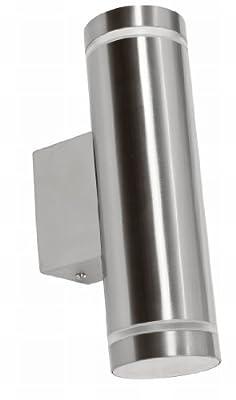 Edelstahl Außenleuchte Wandlampe Wandleuchte IP65 außen LED GU10 von GOLIATH - Lampenhans.de