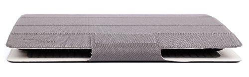Graue Tasche   Etui   Case   Schutzhülle, faltbar, Standfunktion, Magnetverschluss für ALDI MEDION Akoya E1239T (MD 60254)   Akoya E1235T (MD 99832) Tablets