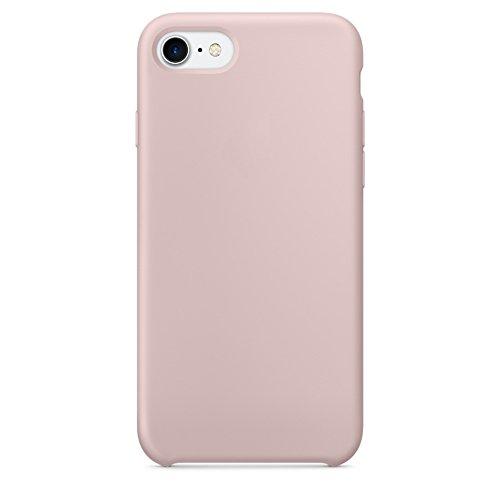 iPhone 8 Hülle, iPhone 7 Hülle, LINDIANSHUMA Silikon Dünne HandyHülle Stoßfest Slim Gummi Schutzhülle Premium Kratzfest Case Cover mit Soft Mikrofasertuch Futter Kissen Handy Hülle für Apple iPhone 8 / iPhone 7,Pink Sand (Sand Pink)