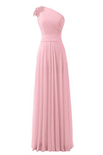 Sunvary realizzata a mano della vita One fiori Empire-Shoulder garza fiesta ballo del vestito da sera Rosa
