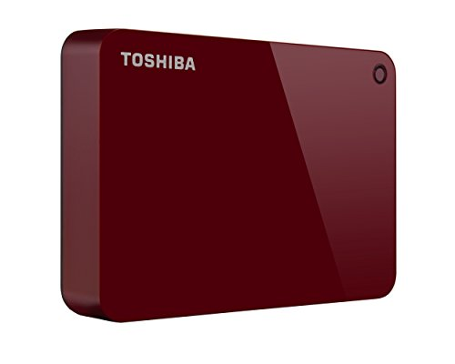 Toshiba Canvio Connect II Tragbare 1TB Festplatte rot rot 3TB