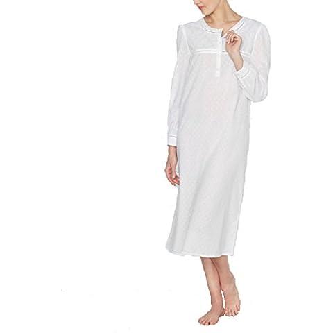 Louise Marnay Donna Camicia Da Notte In Voile Di Cotone Ricamato (Big Sleepwear Alto)