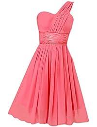 SODIAL (R) nuevas mujeres atractivo de la fiesta de la noche para la boda de dama de honor en la fiesta del baile del vestido corto formal (Rojo claro) - M