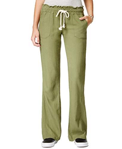 Roxy Juniors' Oceanside Wide-Leg Drawstring Pants - Damen Leinen Drawstring-hose