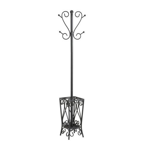 SEI Black Scrolled Metal Coat Rack and Umbrella Stand by Southern Enterprises, Inc.