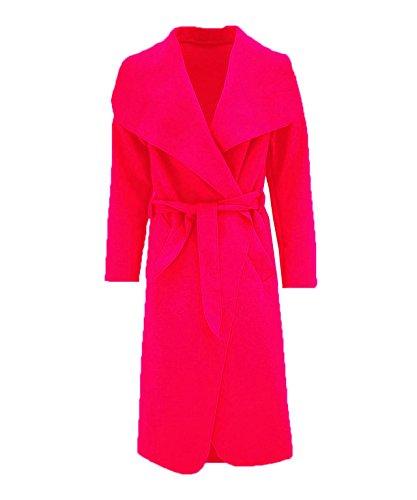 PARSA FASHIONS Damen Mantel One Size Gr. Einheitsgröße, rot Sleeve Belted Coat