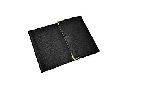 Porta assegni lungo, pieghevole in 3parti, porta carte di credito, da donna o uomo in pelle