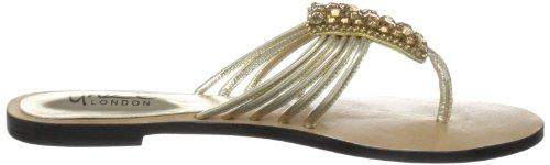 Unze Evening Slippers, Damen Slipper Gold (L18325W)