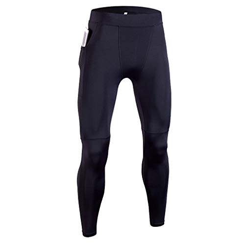 Celucke Sport Leggings Herren Laufhose Strumpfhose mit Print, Männer Funktionswäsche Fitness Hose Pro Cool Compression Tights mit Quick-Dry-Funktion