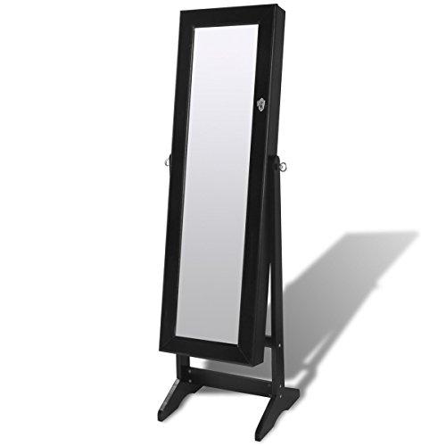 Espejo-joyero-negro-de-pie-con-luz-LED