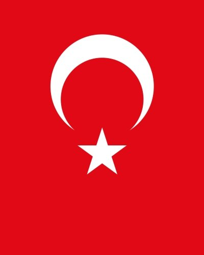 Turkish Flag Notebook: College Ruled Writer's Notebook for School, the Office, or Home! (8 x 10 inches, 120 pages)
