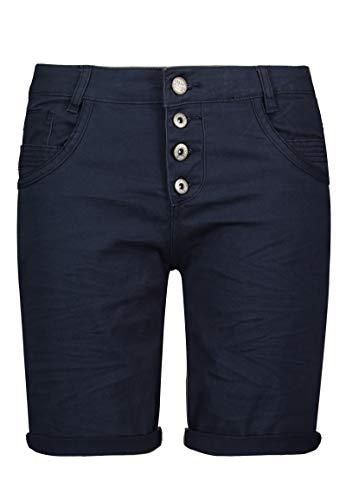 Urban Surface Damen Bermuda Shorts | Bequeme Kurze Stoffhose aus Stretch-Twill - Loose Fit Dark-Blue L