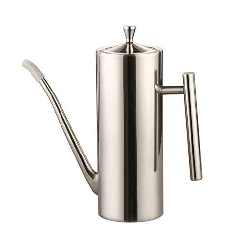 Aceitera y vinagrera de acero inoxidable, dispensador de salsas, portátil, antigoteo, para cocina pequeño -