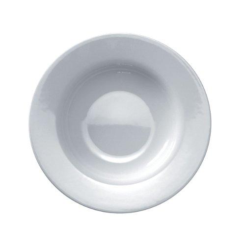 Alessi Ajm28/2 Platebowlcup Assiette Creuse en Porcelaine Blanche, Set de 4 Pièces