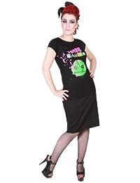 Hell Bunny - T-shirt -  Femme Noir Noir