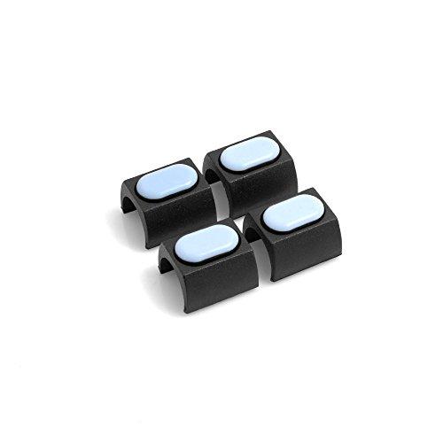 Design61 PTFE 4er Set für Freischwinger Stuhlgleiter Bodenschongleiter für Rundrohr Ø 24-25 mm Möbelgleiter Klemmschalengleiter Klemmgleiter