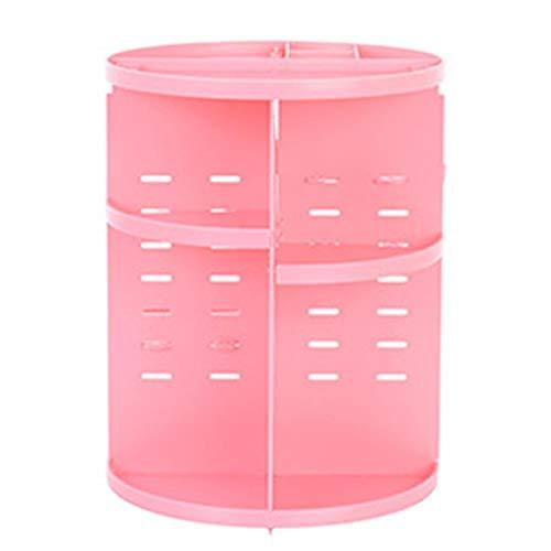 Killypo organizzatore di trucco 360 gradi di rotazione espositore cosmetico girevole regolabili cosmetic organizer scatola grande capacità nero/bianco/rosa