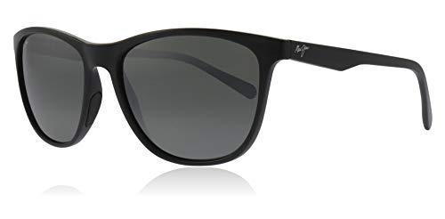 Maui Jim 783-02 Gloss Black Schwarz Glänzend Sugar Cane Round Sunglasses Polarised Lens Category 3 Lens Mirrored Size 57mm