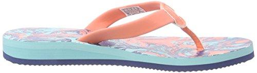 Reebok Splashtopia Damen Dusch- & Badeschuhe Mehrfarbig (Coral/Crystal Blue/Batik Blue-Bch)