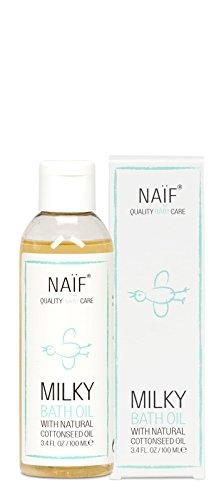NAÏF Pflegendes Babyöl mit Baumwollsamenöl, Beruhigendes Massageöl für Kinder und Baby, ohne aggressive Chemikalien, 100 ml -