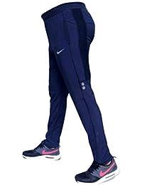 Men's Polyster Rich Navy Blue Color Slim Fit Track Pants