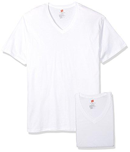 Hanes Herren Big Tall V-Ausschnitt Unterhemd 3er-Pack Weiß 2XLT (Hanes V-ausschnitt Unterhemd)