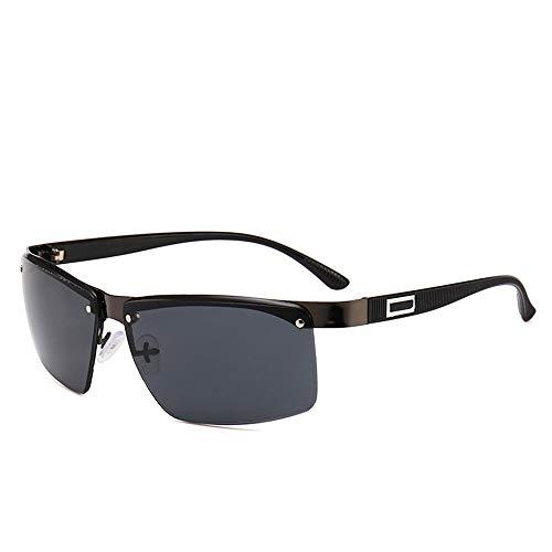 Herren und Damen Metall Brillen Sonnenbrillen Herren Fahren Fischen Fahrradfahren Outdoor Sports Brillen Sonnenbrillen Sonnenbrillen und flacher Spiegel ( Farbe : Schwarz , Größe : Free size )