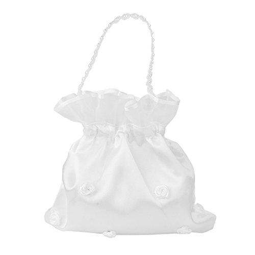 Sharplace Hochzeit Satin Dolly Bag Brauttasche Handtasche Brautbeutel