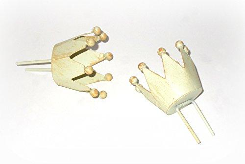 Stecker 'Krone' aus Metall creme