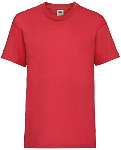 Fruite of the Loom Kinder T-Shirt, vers. Farben 152,Rot