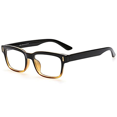 Rnow Premium Unisex Retro Square Frame Eyeglasses Fashion Optical