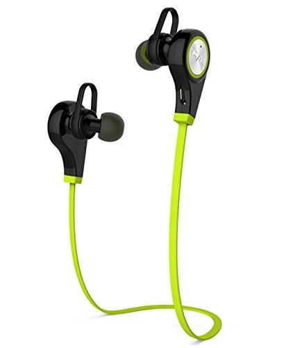 V4.1 Bluetooth sweatproof Sport auricolare stereo hifi Q9 CSR 2 in 1 Mini leggero senza fili Neckband Auricolari In-Ear Sport/Running/Esercizio auricolari Bluetooth Cuffia universale con CVC6.0 cancellazione del rumore e microfono per iPhone Sony Samsung, Motorola, LG e dispositivi Bluetooth