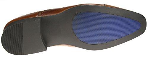 Red Tape Sladeavec-Noir Brun-Chaussures richelieu en cuir à lacets Bout pointu 7, 8, 9, 10 11 12 Marron