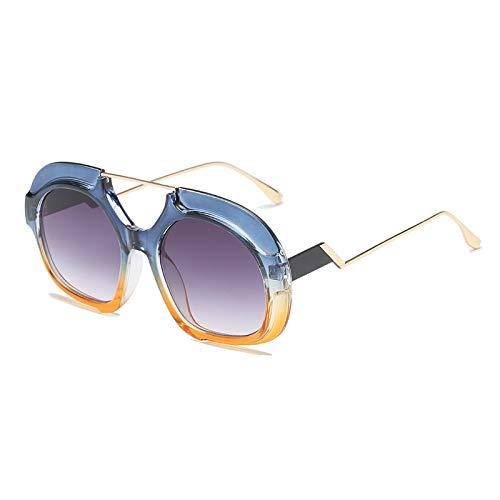 YUHANGH Frauen Sonnenbrillen Einzigartige Oversize Shield Gradient Vintage Brillengestell Für Damen Sonnenbrillen Frauen