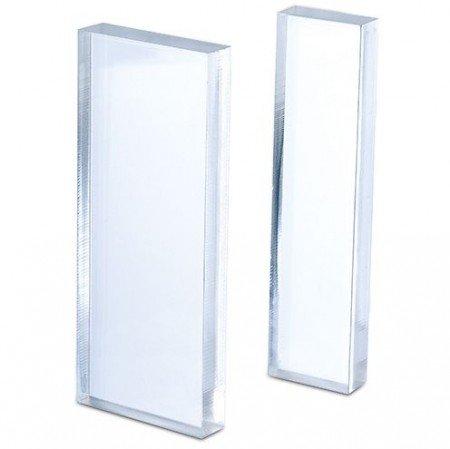 Acrylblock 10 x 4 x 1/10 x 2,5 x 1 cm-transparent-lot de 2