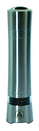 LAGUIOLE 1x Pfeffermühle 21 cm hoch | elektrisch | Edelstahl | Küche | Kochen | Gewürze