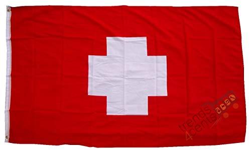Produit de qualité - Drapeau de la Suisse Swizerland - 250 x 150 cm - Extrêmement résistant à la déchirure Poids env. 100 g/m2