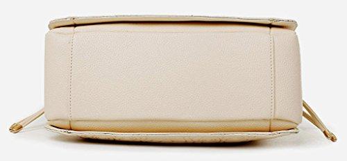 Longzibog Dual verstellbare Schultergurte und Hängeschlaufenband 2016 Neue Simple Style Fashion Tote Top Handle Schulter Umhängetasche Satchel Rot