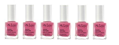 lepo-6-confezioni-di-smalto-good-nature-n52-rosa-intenso-massima-resistenza-e-lucentezza