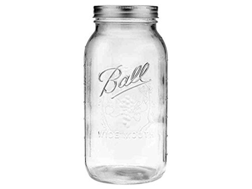 Ball Mason Jars 64 oz. Half Gallon Wide Mouth (6 jars) by new Pint Mason Jelly