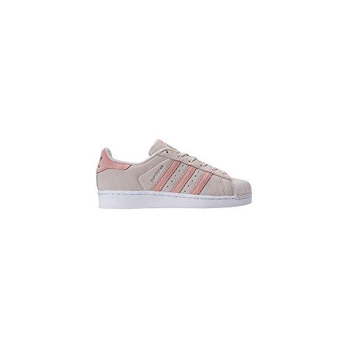 adidas Superstar J, Sneaker a Collo Basso Unisex – Bambini grigio (Griper / Roshel / Roshel)